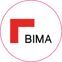 Logo for BIMA, an organisation on-IDLE is a member of