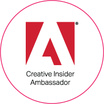 Logo for Adobe, for who on-IDLE are Creative Insider Ambassadors